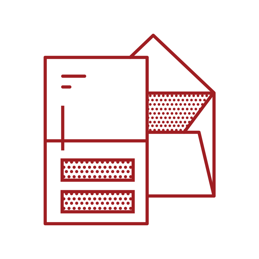 a graphic depicting a paper and envelope