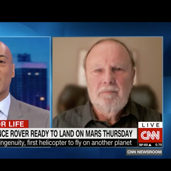 CNN interviews Ray Arvidson about Perseverance rover [video]